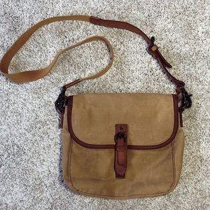 LL Bean Canvas+Leather Rustic Messenger Bag